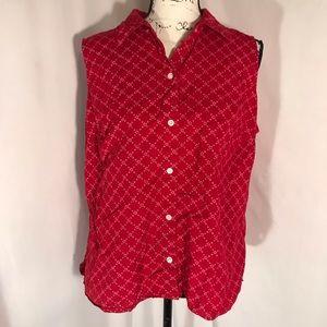 Cherokee 100% Cotton Button Down Blouse 16W